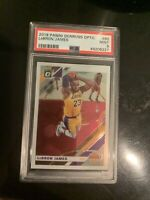 LEBRON JAMES LAKERS 2019 PANINI DONRUSS OPTIC #60 BASE CLEAN PSA 9 MINT FRESH!