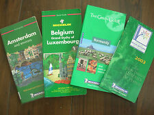 JOB LOT MICHELIN GUIDE BOOKS AMSTERDAM - NORMANDY - BELGIUM & LUXEMBOURG FRANCE