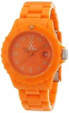 ToyWatch Unisex Orange Dial Orange Plastic Strap Quartz Watch MO06OR