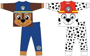 Kids Boys Novelty Paw Patrol Character Pyjamas Chase Marshal PJs Nightwear