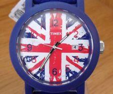 Mens British Timex Union Jack Mod Style Blue Rubber 50m Quartz Watch