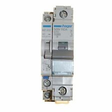 10 amp type B circuit breaker with alarm contact attachment Hager NBN110A MZ202