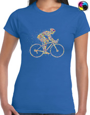 Cyclist Dots Ladies T Shirt Cycling Bicycle Bike Rider Gift Present Cool Womens
