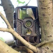 FULL HD FOTOTRAPPOLA MIMETICA CACCIA VIDEOCAMERA INFRAROSSO LED VISIONE NOTTURNA