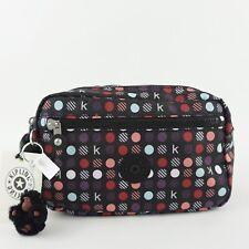 KIPLING AMALFI Toiletry Cosmetic Bag K Multi Dots Red