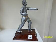 """male Martial Arts Karate, trophy or award, w/ engraving, 6"""" tall"""