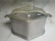 Guardian Service Cookware Triangle Aluminum Cooking Pot W/ Glass Lid Casserole