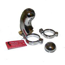 Thesexshoponline métal mâle modifiable fin Bondage Chastity Device avec 2 anneaux
