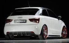 Rieger Heckeinsatz Carbon-Look Doppelendrohr links für Audi A1 8X ohne S-Line