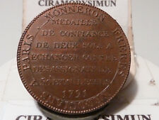 CIRA(13) (40) - MEDAILLE de 2 SOLS MONNERON - 1791 - RARE QUALITE SUP !