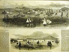 American Bennett Artic Expedition SAN PABLO BAY San Francisco 1879 Print Matted