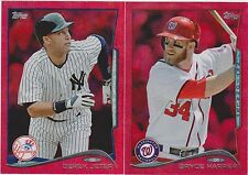 2014 Topps Series 1 Baseball Tampa Bay Rays Red Hot Foil Team Set