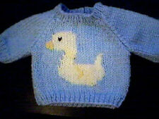 Customized Easter Duck Sweater Handmade for Cabbage Patch Kid Doll Made in USA