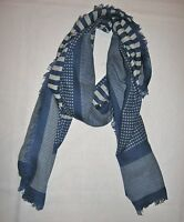 Madewell New With Tag Houndstooth Grid Scarf Color:Blue One Size
