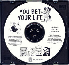 YOU BET YOUR LIFE - 189 Shows Old Time Radio MP3 Format OTR 2 CDs   GROUCHO MARX