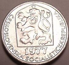 Gem Unc Czechoslovakia 1977 5 Haleru~Czeck lion~Excellent~Free Shipping