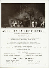1960 Vintage Ad American Ballet Theatre 1961-1962 Season (022612)