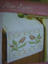 Alma Lynne's Tulip Dreams Dresser Scarf Stamped Cross Stitch 14 x 44 Inches