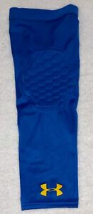 UNDER ARMOUR UA Gameday Blue Yello Padded Elbow Basketball Arm Sleeve NEW Mens L
