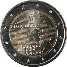 Pièces euro de la Slovénie pour 2 euro année 2014
