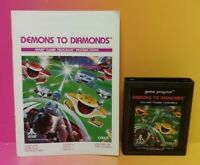 Atari 2600 Demons To Diamonds Game & Instruction Manual Tested Works Rare