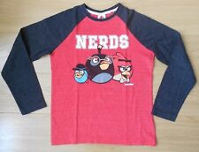 Boys Next red Angry Birds Long sleeve top t-shirt size 9 years