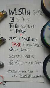 3 Stück WESTIN SHAD montiert Jig-kopf +60cm Vorfach-TAKE Preis 7,--Euro+2,80Vers