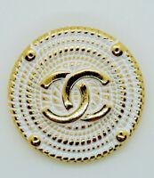 Price for 1 pcs Vintage Chanel Button cc white 1 pieces XL