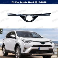 Front Chrome Bumper Upper Hood Grille Grill Top Fit For Toyota Rav4 2016-2018