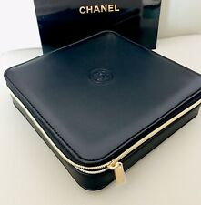 CHANEL Beauty Black Faux Cosmetic Box Jewelry Storage Case NIB 17x17x4.2cm