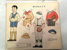 Vintage Original Paper Dolls -10 Sheets Ethnic Costumes - 1930s-40s