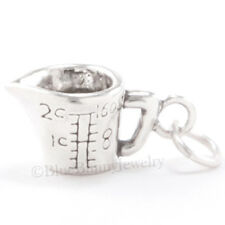 MEASURING CUP Charm Pendant Cook Kitchen Baking charm 925 Sterling Silver 3D