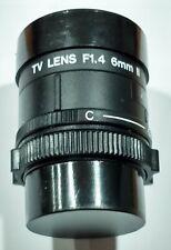 CCTV CAMERA LENS VC6NCR 6MM F1.4