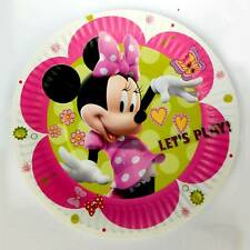 Minnie Mouse Round Colorful Kiddies Birthday Party Paper Plates