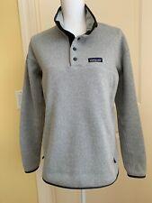Womens Patagonia Lightweight Better Sweater® Marsupial Gray Fleece Pullover Sz M
