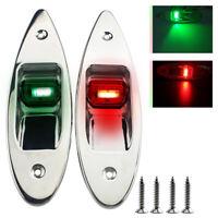 12V Marine Boat Yacht LED Navigation Seitenbogen Lichter Edelstahl Rot & Grün