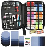110x Sewing Kit Thread Spools Needle Seam Ripper Patch Tools Supplies Set Travel