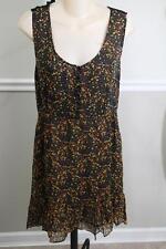 RAPSODIA Women's Black Fall Leaf Embroidered Sheer Dress Size M (Dr400