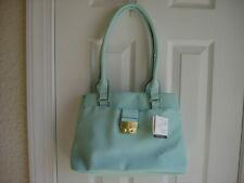 NWT Jaclyn Smith handbag blue imitation leather shoulder bag purse acrossbody