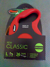 New listing Flexi New Classic Tape Leash Red 26 ft Large, Dogs Up To 110 lb Upc:840317107739