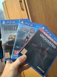 Ps4 games bundle - wreckfest, god of war and uncharted lost legacy. All PS4