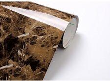 Brown Granite Marble Vinyl Film Wall Papper Adhesive Roll Decorative Wrap Stick