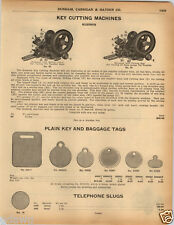 1925 PAPER AD Early Vintage Russwin Key Cutting Machine No. 50 #50 Diagram