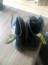 Dr Martens 1460 Black Patent Leather 8 Hole Boots Shoes Size 6