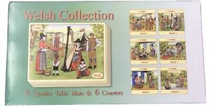Welsh Vintage Images 6 X Placemats And 6 X Coasters