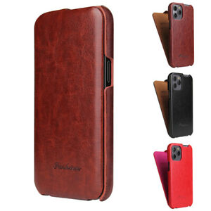 Vertical Flip Case Slim Leather Cover for iPhone 12 Mini 11 Pro Max XR XS SE 7 8