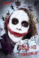 Batman -Joker Smile - Film Kino - Poster Druck - Größe 61x91,5 cm
