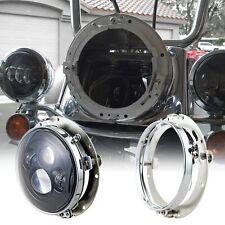 "7"" inch LED Headlight Bezel Bracket Mount Ring for Harley Davidson Touring FLD"