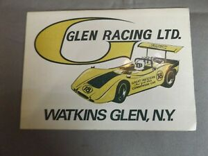 """5"""" x 3.5"""" STICKER - GLEN RACING LTD - WATKINS GLEN NEW YORK - CAN AM"""