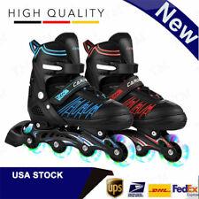 New listing Fashion Inline Skates for Adult Kid Size 7 8 9 10 11 Adjustable Roller Blades-US